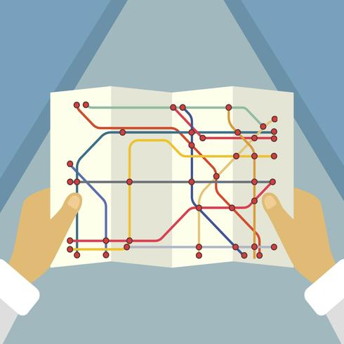Flat Tube Map Background