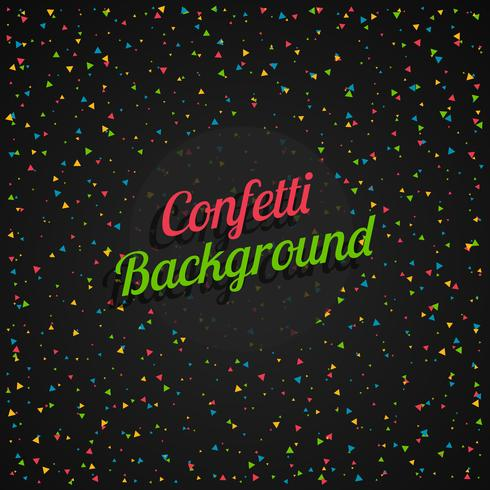 confetti in dark background