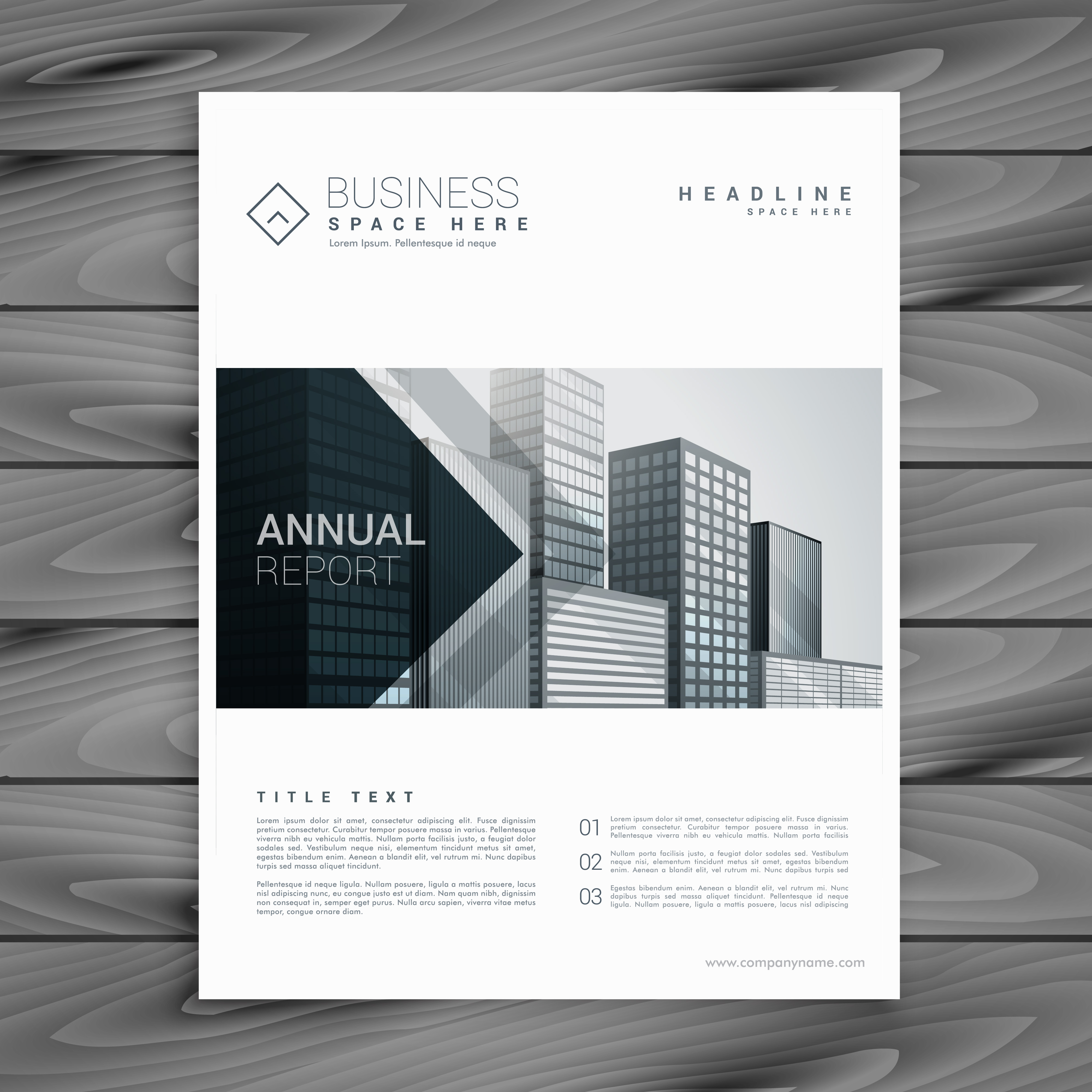 elegant white brochure design template with arrow shapes