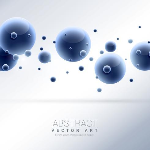 Abstrakter Hintergrund der blauen Moleküle 3d