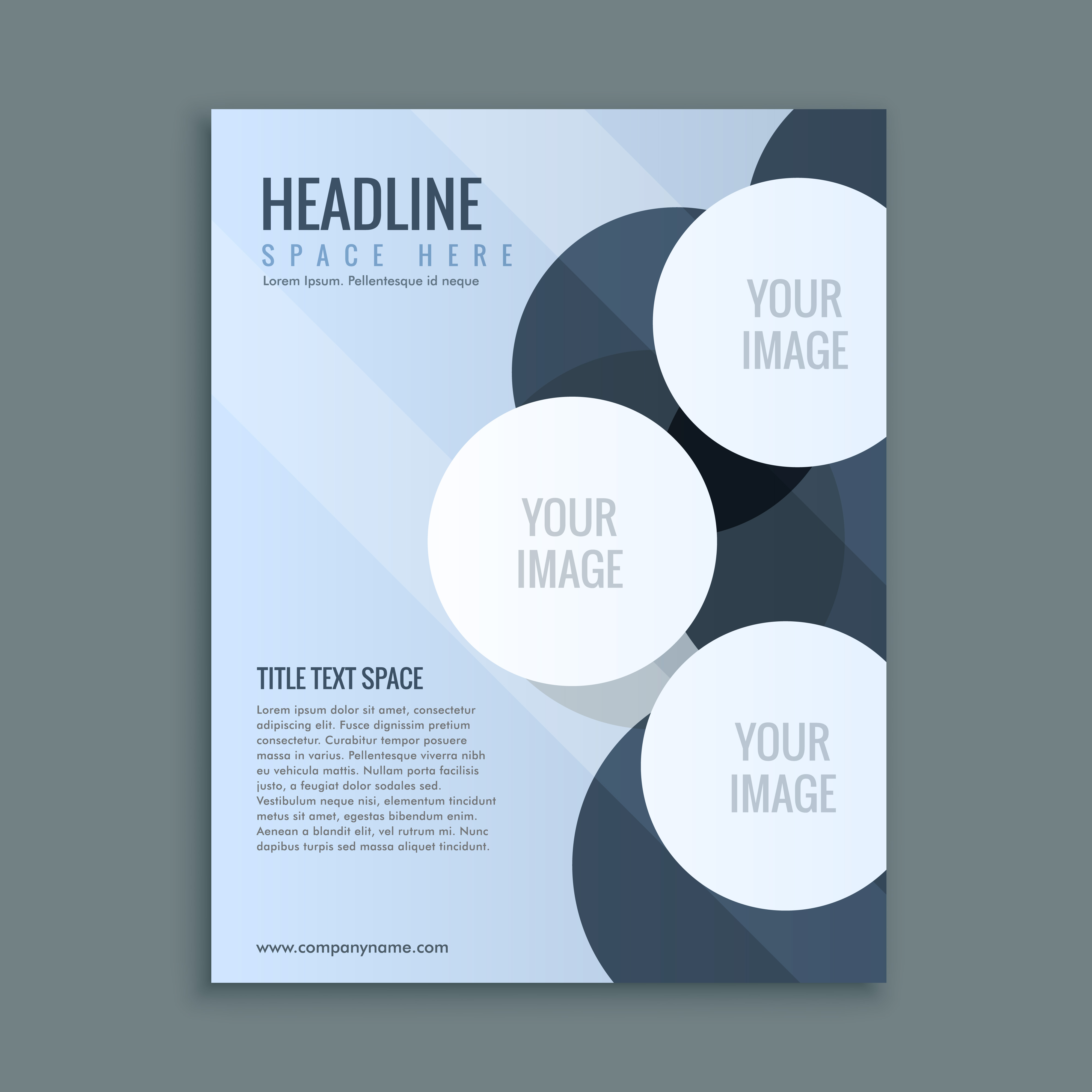 Designs Page Layout Templates: Abstract Business Brochure Page Layout