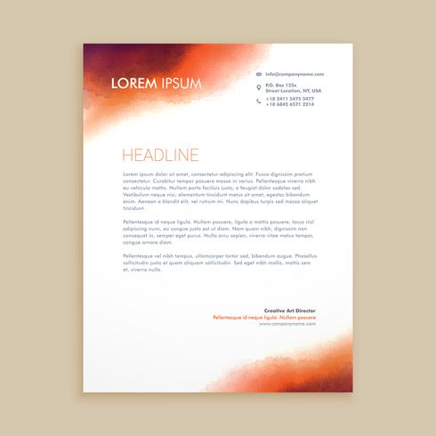corporate business letterhead template vector design illustratio
