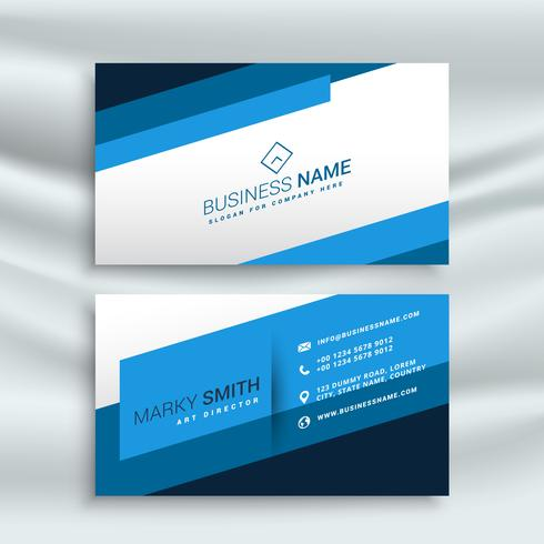 blue stripe modern business card identity