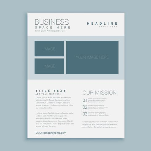 simple business brochure flyer design template
