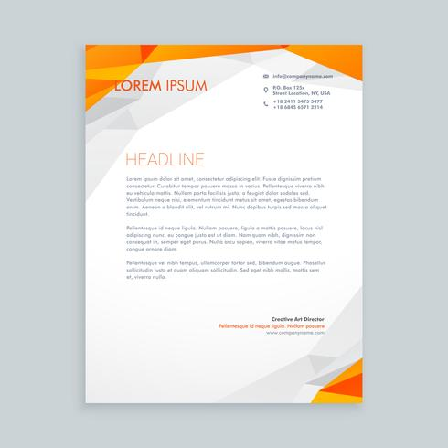 business style letterhead  template vector design illustration