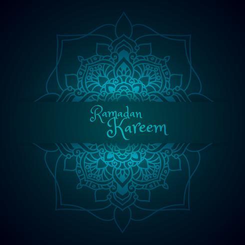 ramadan greeting with mandala pattern