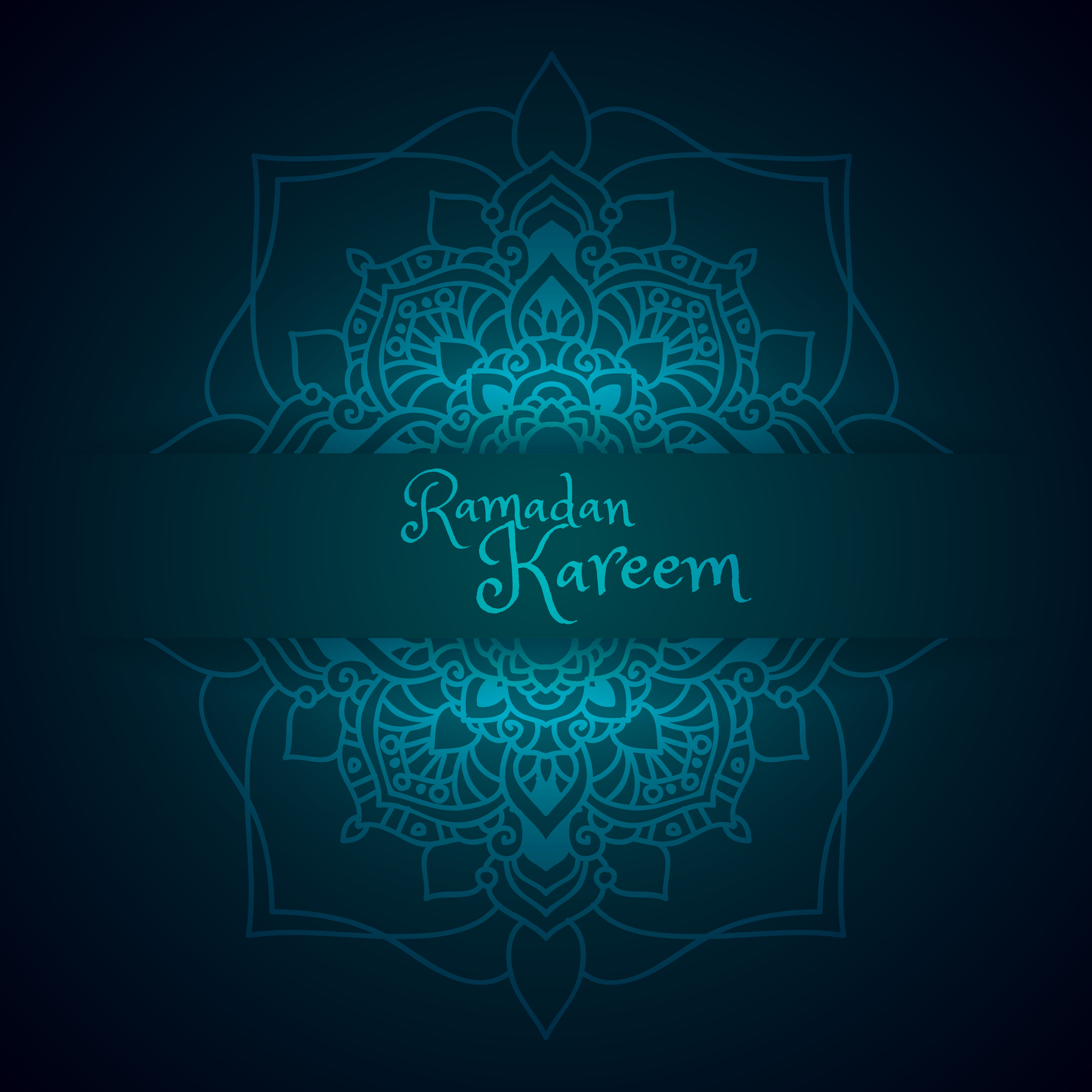 Ramadan greeting with mandala pattern - Download Free