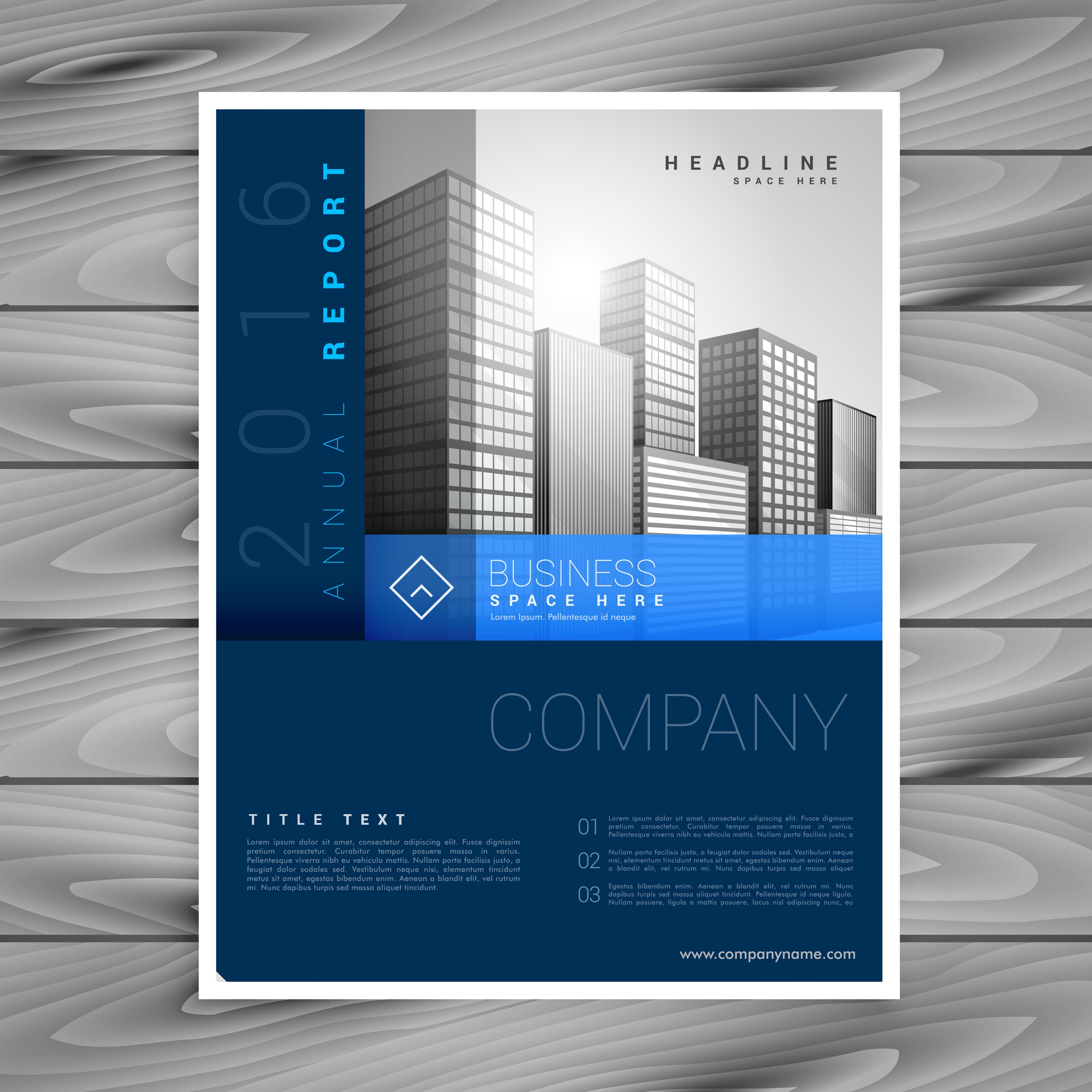 blue business brochure design template