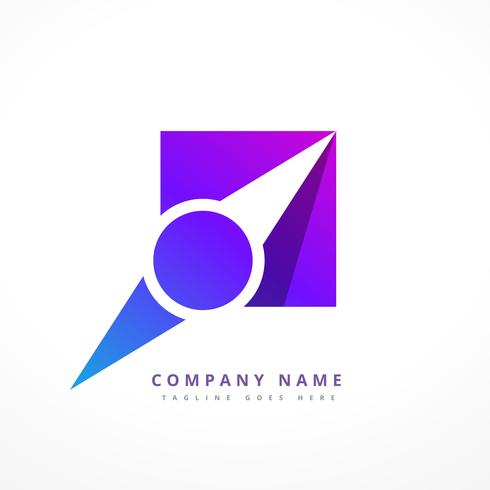navigation pointer business logo design illustration