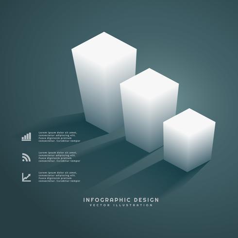 3d bars infograph