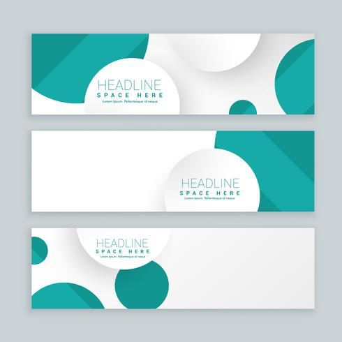 clean business style banners set of three template