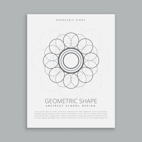 abstract geometric shape design