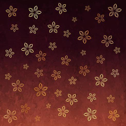 stylish flower golden pattern background design