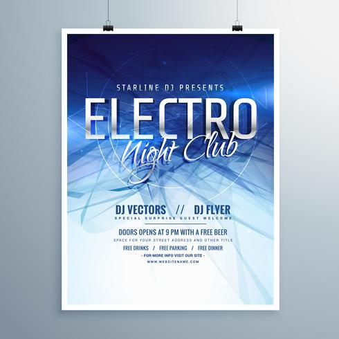 electro night club party flyer poster template