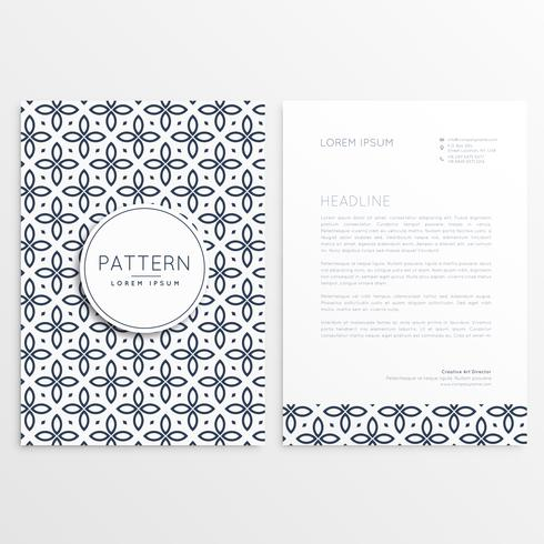 abstract brand letterhead design with pattern