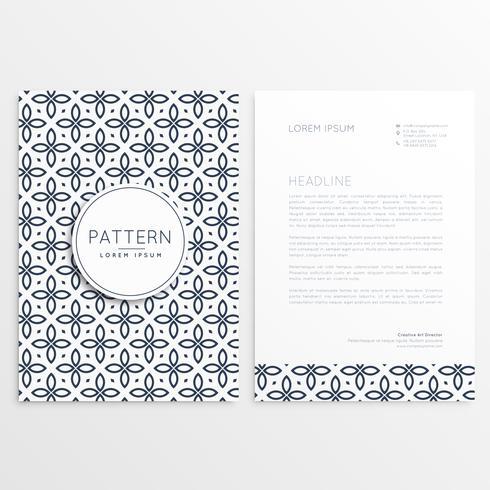abstrakt märke brevpapper design med mönster