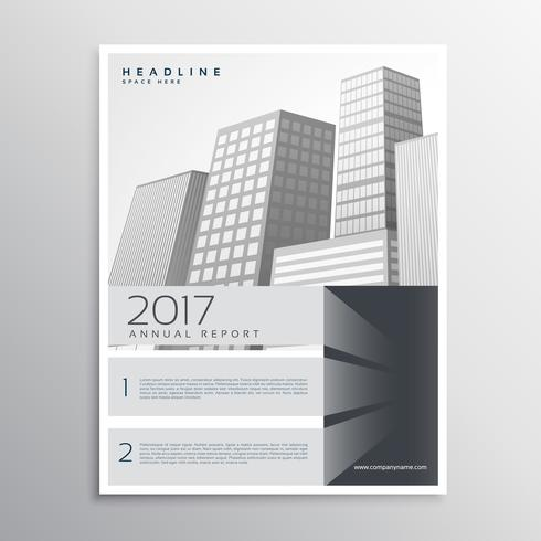 gray brochure design template for your company