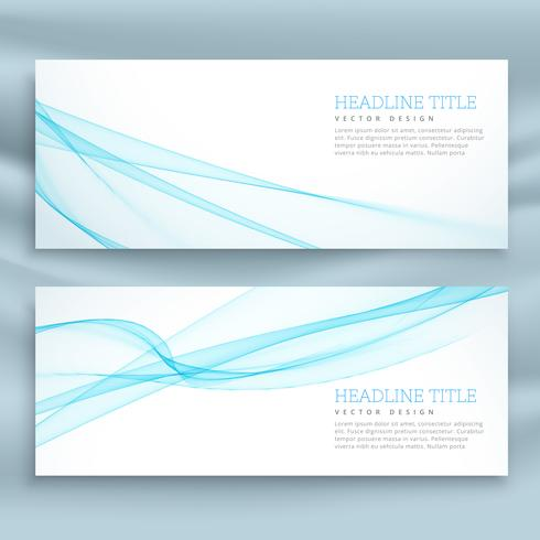 stylish business banners template in blue theme