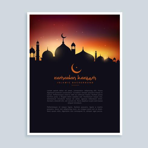 Ramadan Kareem Flyer Plakat Vorlage