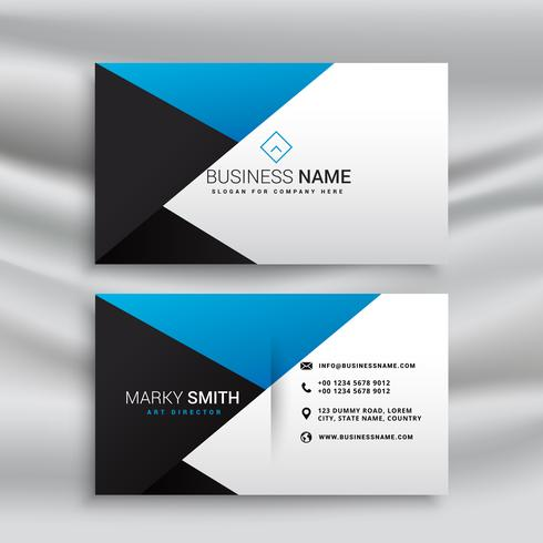 elegant blue white and black modern business card design