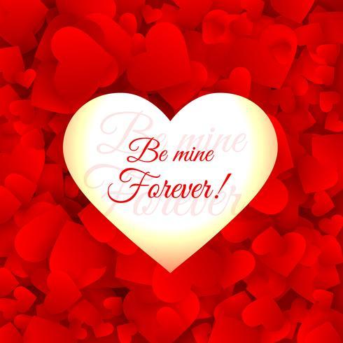 amor corazones fondo rojo vector diseño ilustración