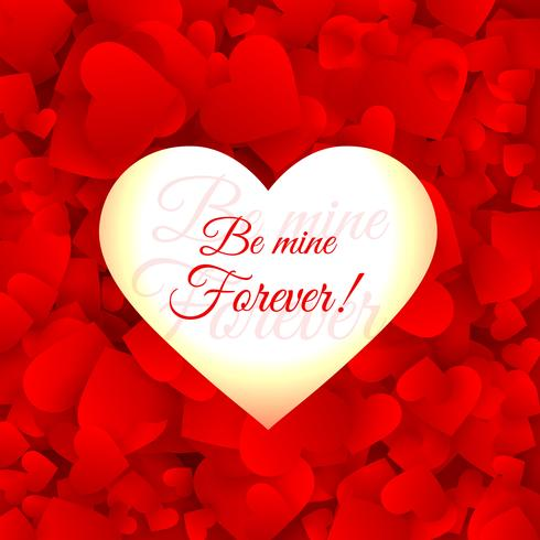 love hearts red background vector design illustration