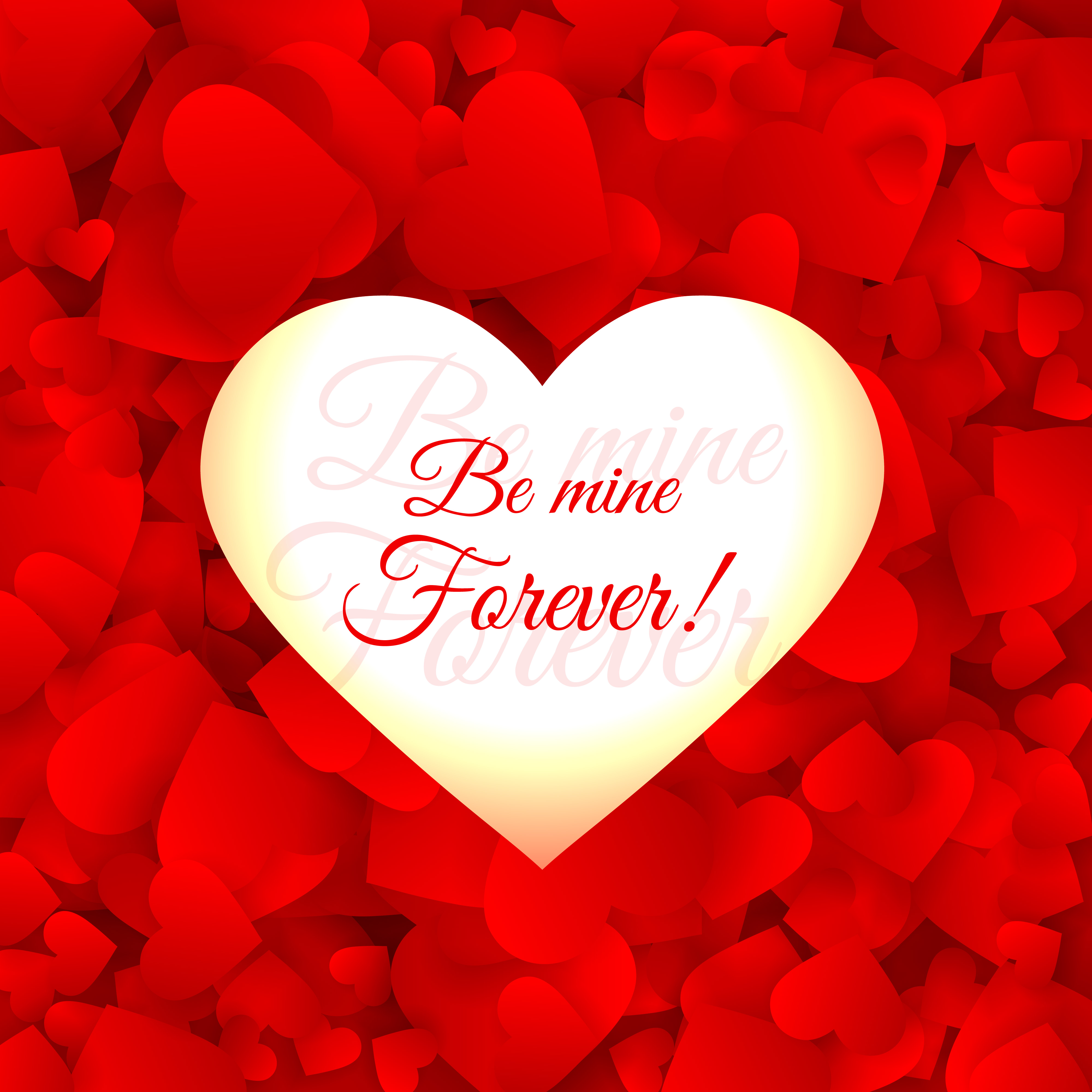 love hearts red background vector design illustration - download