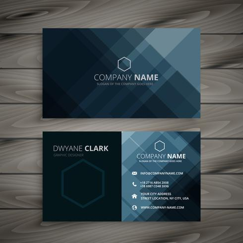 Dark business card presentation template vector design illustrat dark business card presentation template vector design illustrat wajeb Images