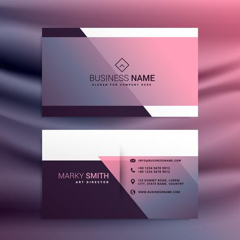 awesome vector minimal business card design