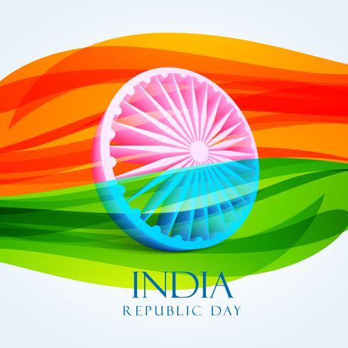dia da República bandeira indiana vector design ilustração
