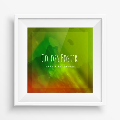 colorful poster in realistic frame