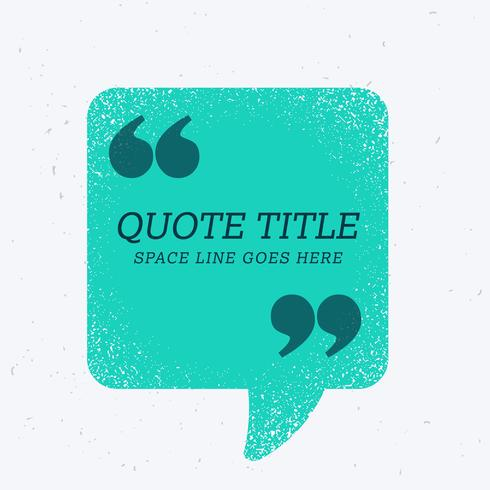 blue chat bubble with quotation mark and space for your text