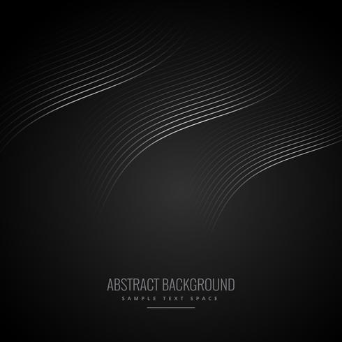 abstract black background with curve lines