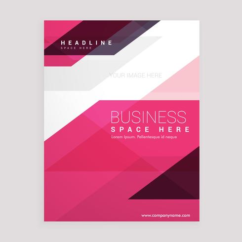 pink geometric brochure flyer business annual report laflet cove