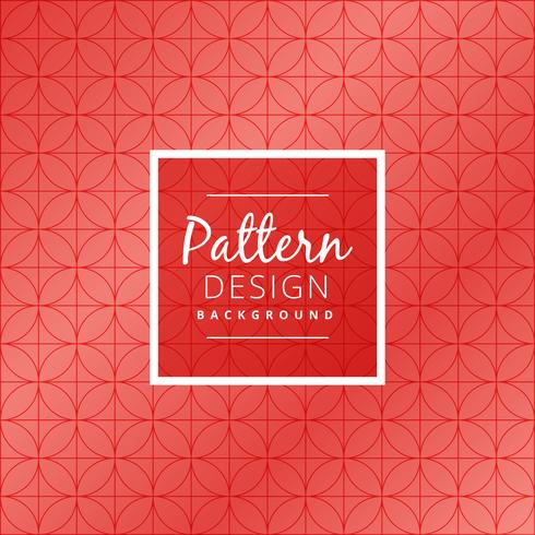 seamless red circular pattern vector design illustration