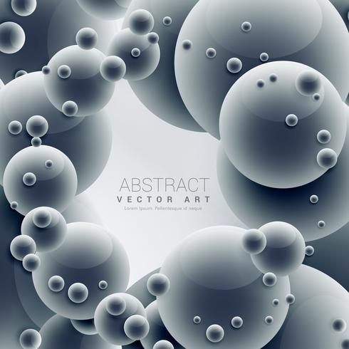 abstract 3d molecules blue vector background