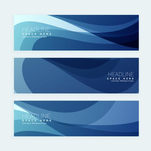 blue business banners set