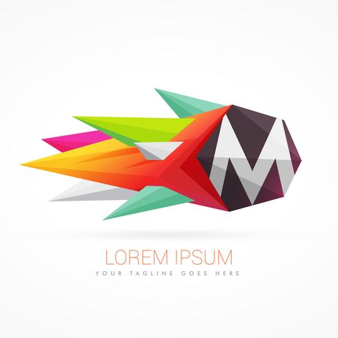 colorful abstract logo with letter M