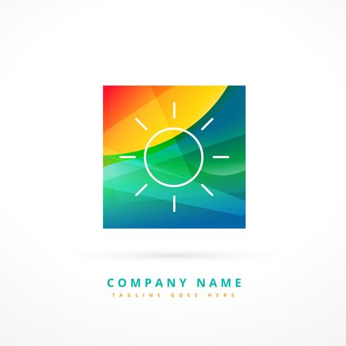 abstract sun logo template design shape