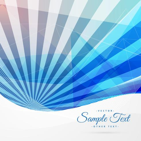 blue abstract background with stripe rays
