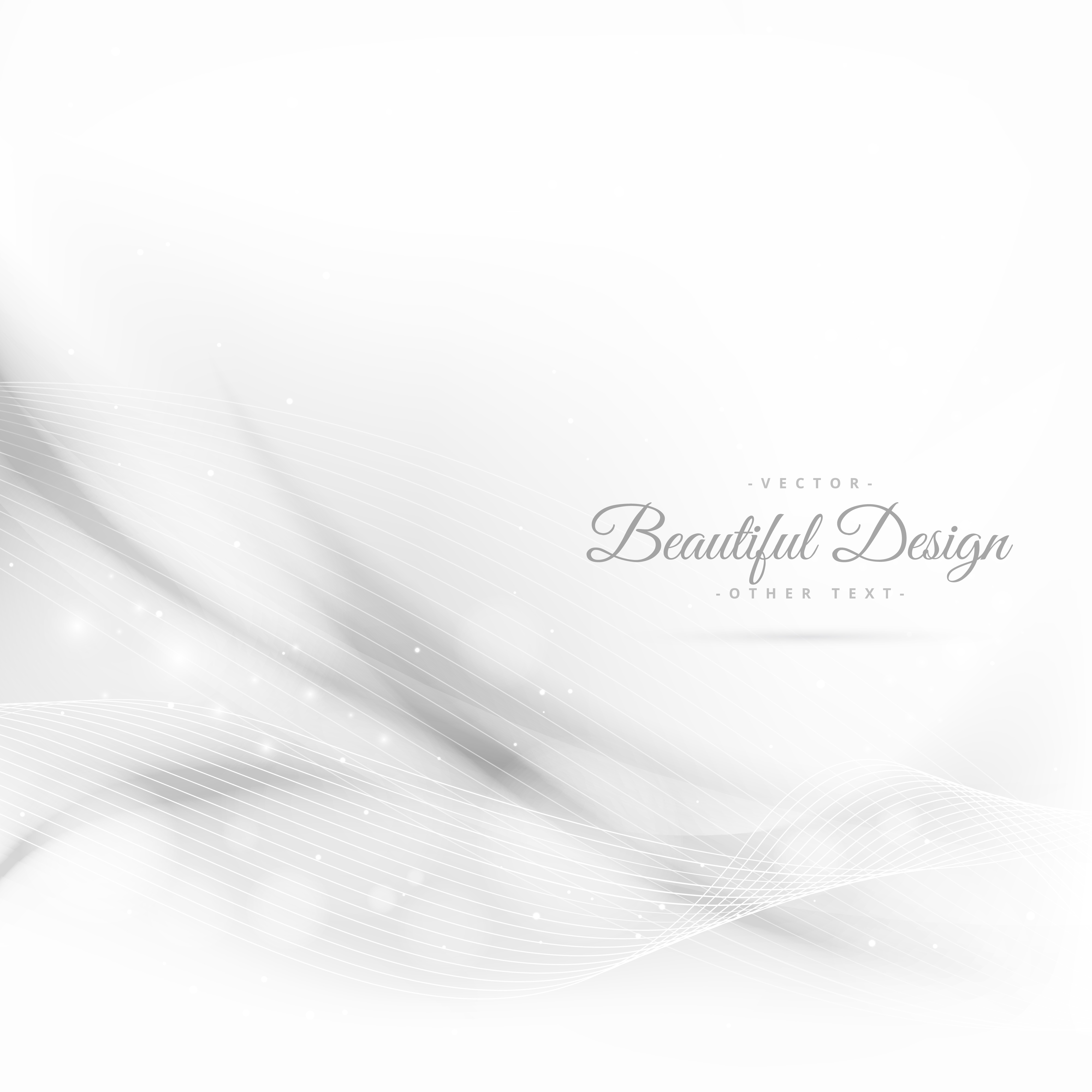 Abstract White Wave Style Background