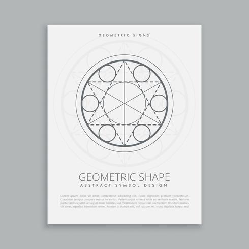cartel sagrado geométrico espiritual