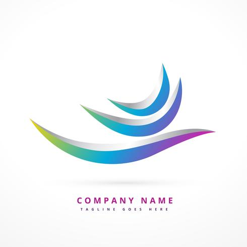 abstract logo shape design illustration