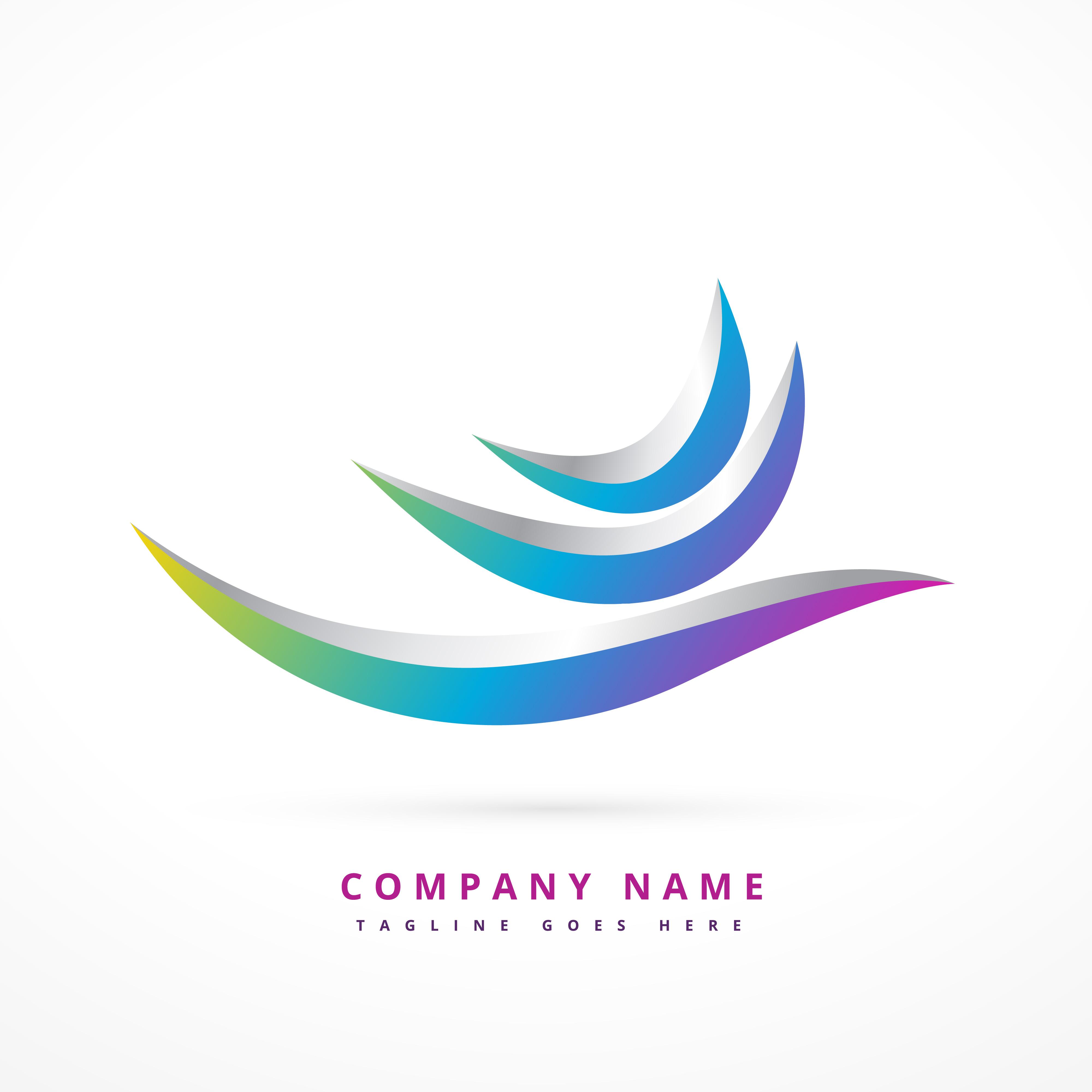 abstract logo shape design illustration - Download Free ...