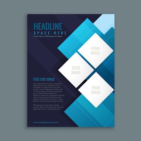 modèle de présentation de brochure entreprise bleu