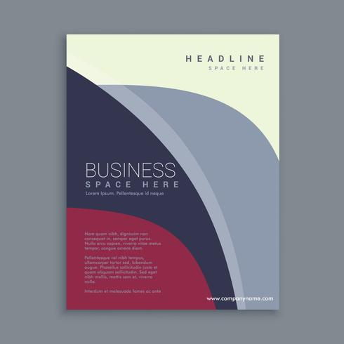corporate magazine page template