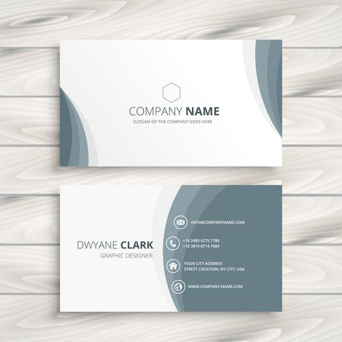 Clean Minimal Business Card Template Vector Design Illustration - Simple business card templates