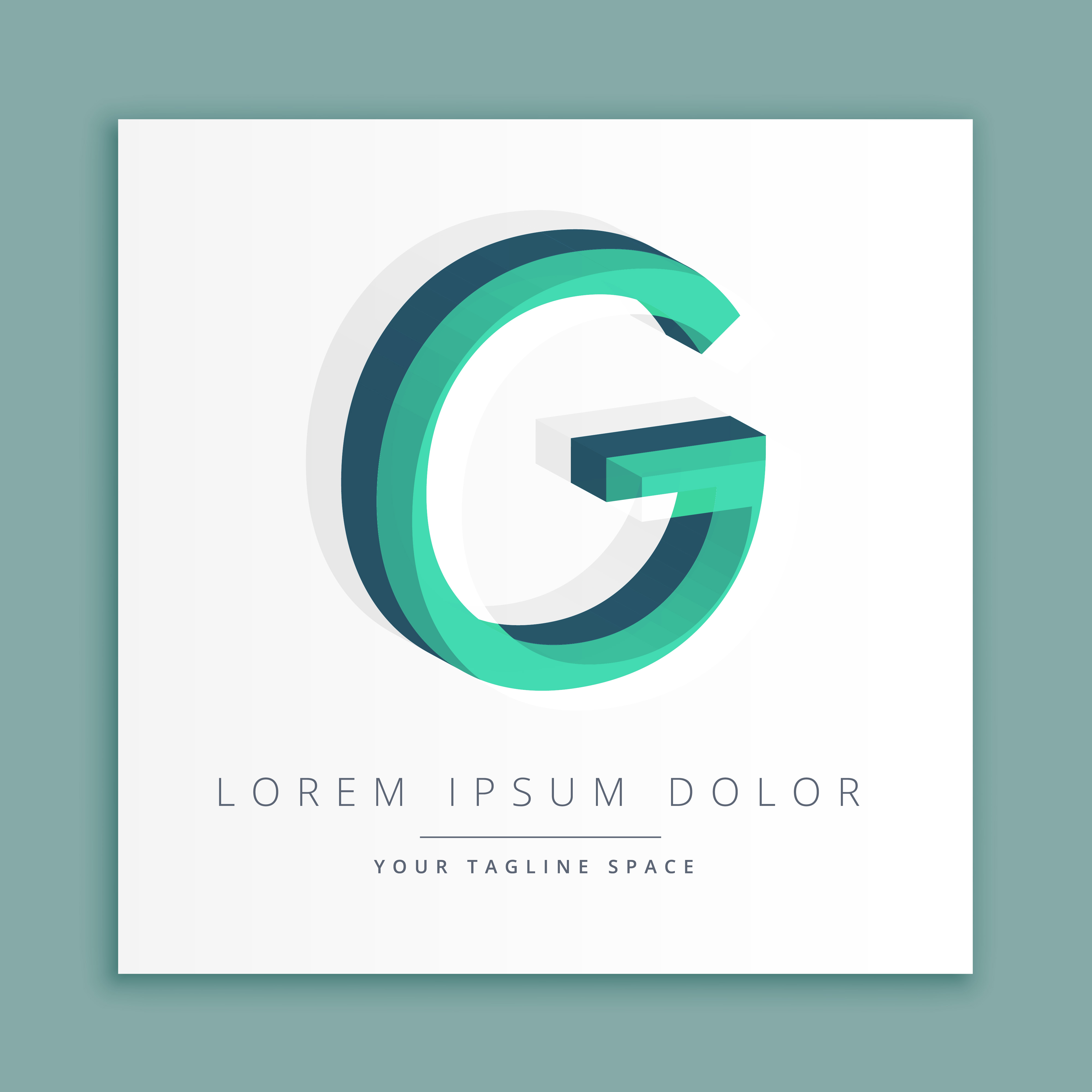 3d Abstract Style Logo With Letter G