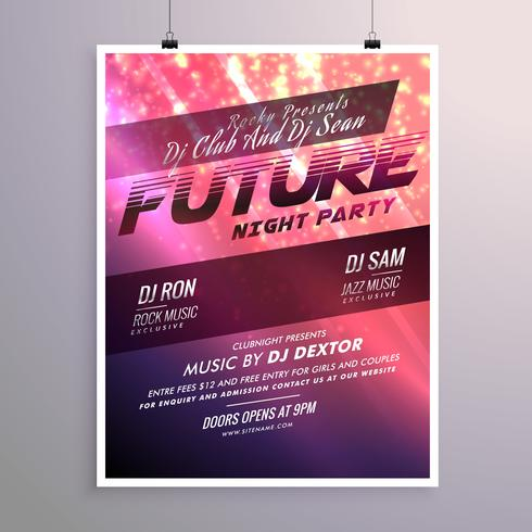 shiny abstract flyer template design