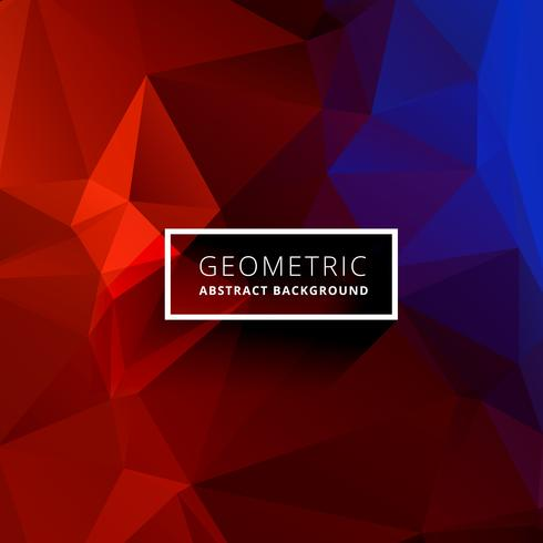 red blue geometric triangle background